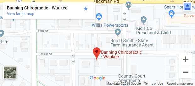Chiropractic Waukee IA Map